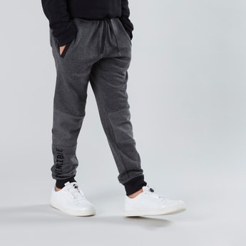Printed Joggers with Elasticated Cuffs and Drawstring Closure