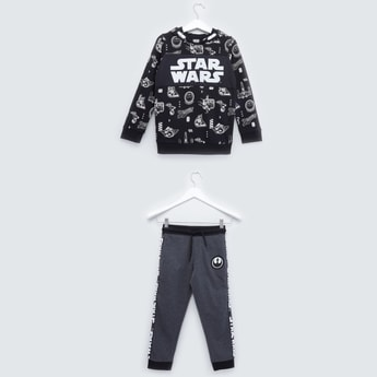 Star Wars Printed Sweatshirt and Pyjamas with Drawstring Closure