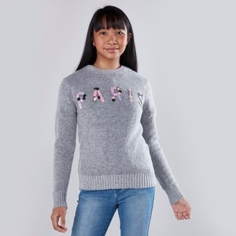 Embellished Jumper with Long Sleeves