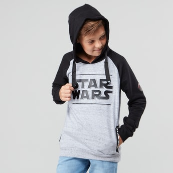 Star Wars Embossed Sweatshirt with Hood and Pocket Detail
