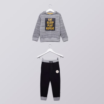 Hooded Sweatshirt and Jog Pants Set