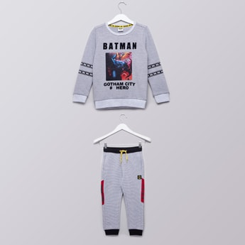 Batman Printed Sweatshirt and Joggers Set