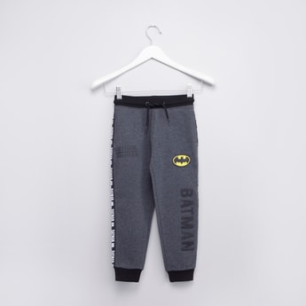 Full Length Batman Embossed Jog Pants with Pocket Detail