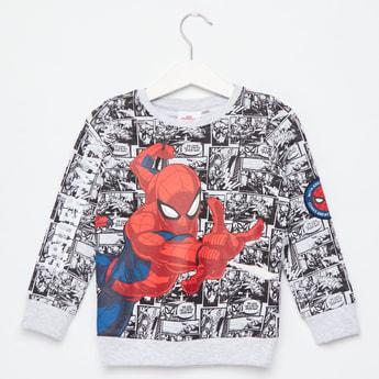 All-Over Spider-Man Print Long Sleeves Sweatshirt