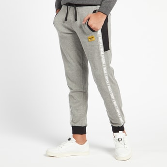 Printed Full Length Jogger with Drawstring Closure and Reflective Tape