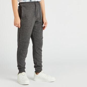 Textured Jog Pants with Pockets and Drawstring Closure