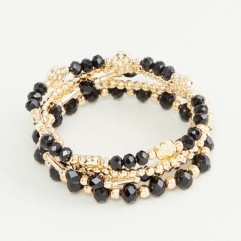 Set of 5 - Beaded Round Bracelet