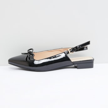 Bow Detail Slingback Shoes with Pin Buckle