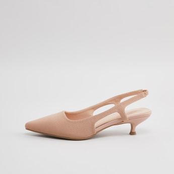 Pointed Toe Sling Back Heels