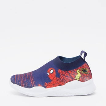 Spider-Man Print Sports Shoes with Pull Tab