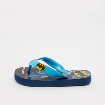 Batman Print Flip Flops