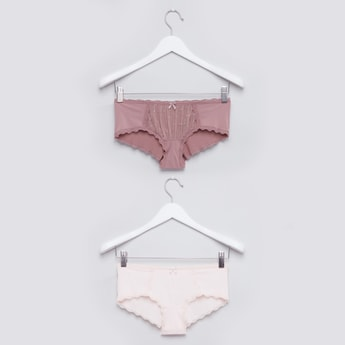 Lace Detail Hipster Briefs - Set of 2