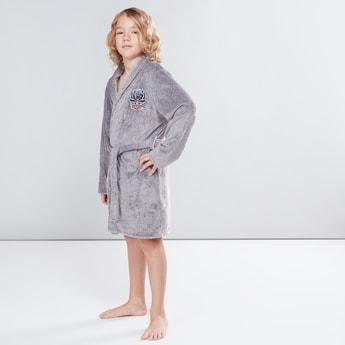 Textured Long Sleeves Robe