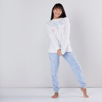 Bunny Printed T-Shirt with Jog Pants