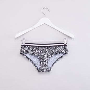 Printed Hipster Briefs with Elasticised Waistband