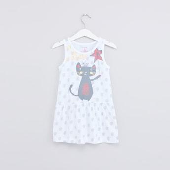 Printed Sleeveless Sleep Dress