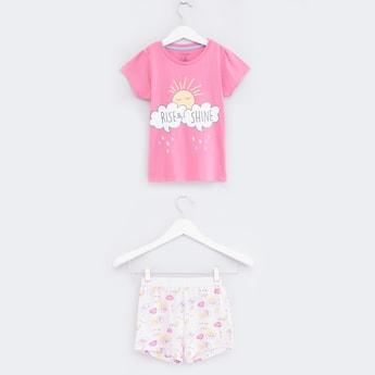Printed T-Shirt with Shorts