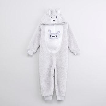 Applique Detail Long Sleeves Sleepsuit