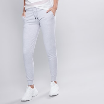 Plain Jog Pants with Elasticised Waistband and Pocket Detail