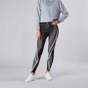 Slim Fit Full Length Printed Leggings with Elasticised Waistband