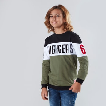 Avengers Printed Sweat Top with Long Sleeves