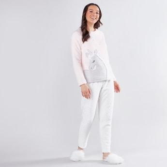 Round Neck T-shirt and Pyjama Set
