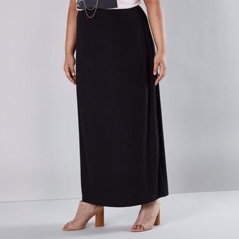 Textured Maxi A-line Skirt
