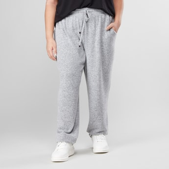 Melange Print Jog Pants with Pockets