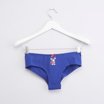 Mickey Mouse Printed Hipster Brief with Bow Detail