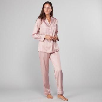 Polka Dot Printed Shirt and Pyjama Set
