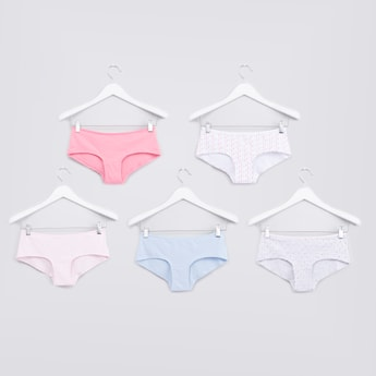 Set of 5 - Hipster Briefs with Elasticised Waistband