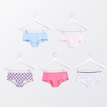 Set of 5 - Boyshorts with Elasticised Waistband