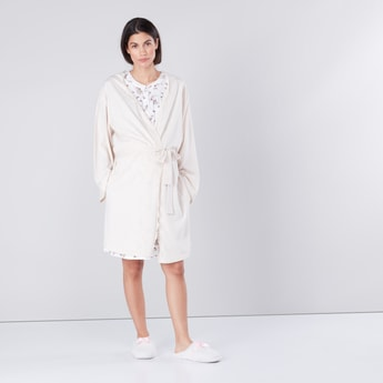 Sleeveless Maternity Sleep Dress and Robe Set