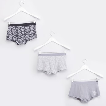Set of 3 - Printed Trunks with Elasticated Waistband