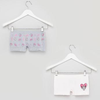 Set of 2 - Minnie Mouse Printed Seamless Boyshorts