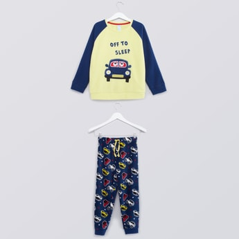 Printed Long Sleeves T-shirt and Jog Pants