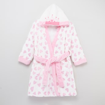 Embroidered Hooded Bathrobe