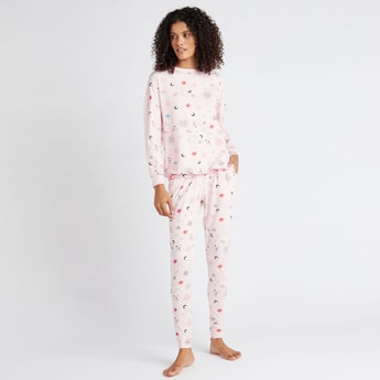 Cozy Collection All-Over Print T-shirt and Full Length Pyjama Set