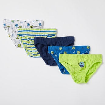 Pack of 5 - Monster Print Briefs with Elasticised Waistband