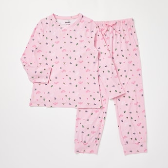 Cozy Collection Princess Print T-shirt and Full Length Pyjama Set