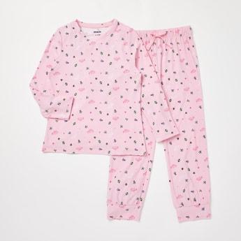 Princess Print T-shirt and Full Length Pyjama Set