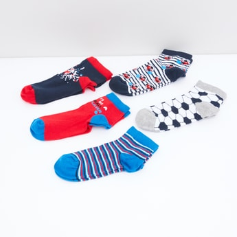 Assorted Printed Socks - Set of 5
