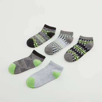 Set of 5 - Printed Ankle Length Socks