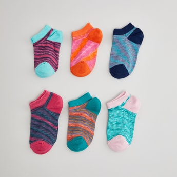 Set of 6 - Printed Ankle Length Socks