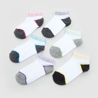 Set of 6 - Colour Block Ankle Length Socks