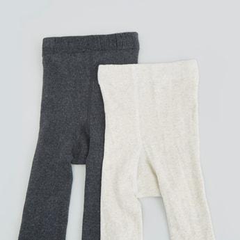 جوارب ضيقىة بارزة الملمس - طقم من قطعتين