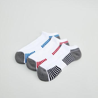 Set of 3 - Striped Ankle Length Sport Socks
