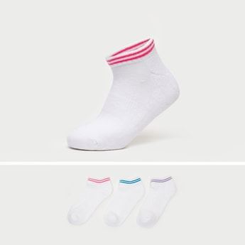 Set of 3 - Textured Ankle Length Sports Socks