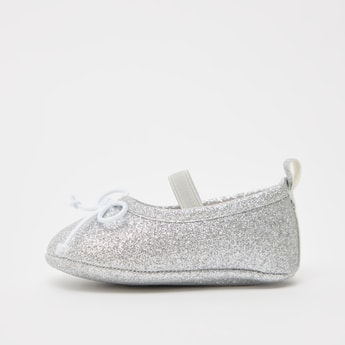 Glitter Finished Slip-On Booties