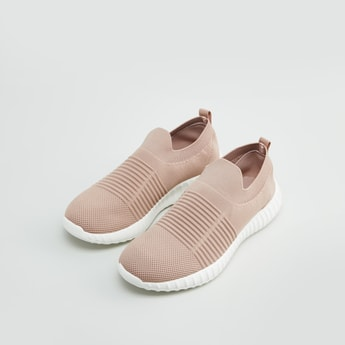 Textured Shoes with Slip-On Closure